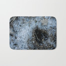 Icy Footprints Bath Mat