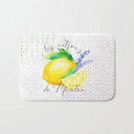 Les Citrons de Menton—Lemons from Menton, Côte d'Azur Bath Mat