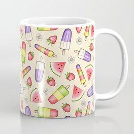 Ice Lollies and Summer Fruit on cream Coffee Mug