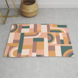 Muted Tones Blocks #society6 #pattern Rug