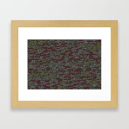 Developer's Terminal Pattern Framed Art Print