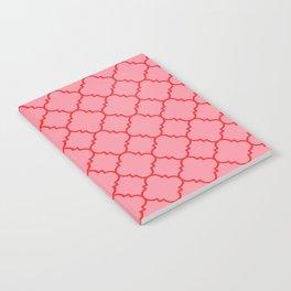 Quatrefoil - Pink & Red  Notebook