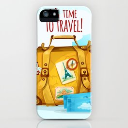 Travel Concept With Suitcase iPhone Case