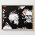 Day Of The Dead Floral Skulls by folknfunky