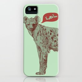 LOL (mint) iPhone Case