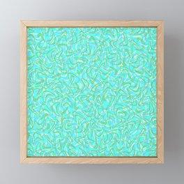 Boomerang Aqua Framed Mini Art Print