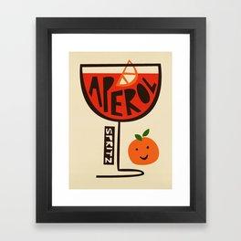 Aperol Spritz Cocktail Print Framed Art Print