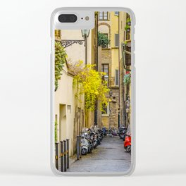 Street of Historic Center of Florence Clear iPhone Case