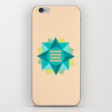 Abstract Lotus Flower - Yoga Print iPhone & iPod Skin