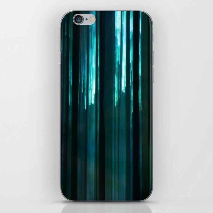 Forest in emerald green iPhone Skin