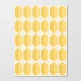 Zola Hexagon Pattern - Golden Spell Canvas Print