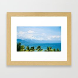Parasailing in Mexico Framed Art Print