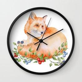 Fox. Wall Clock