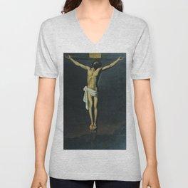 Christ Crucified Unisex V-Neck