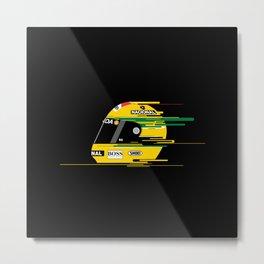 Ayrton Senna Helmet Metal Print