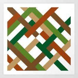 "Geometric Print ""Broken Weave"" Art Print"