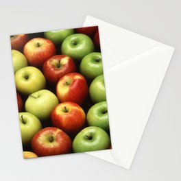 Various Types of Apples Stationery Cards