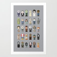 Horror Icons Art Print