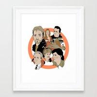 fargo Framed Art Prints featuring Fargo by Kate Thornley