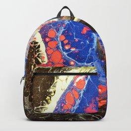 Starry Night, Fluid Art Backpack