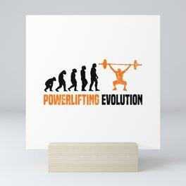Powerlifting Evolution T Shirt Weightlifting TShirt Gym Shirt Evolution-Look Gift Idea Mini Art Print