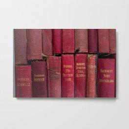 Baedeker's Bücher Metal Print
