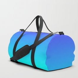 Neon Blue and Bright Neon Aqua Ombré Shade Color Fade Duffle Bag