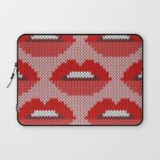 Lips pattern - pink Laptop Sleeve