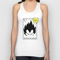 dragonball Tank Tops featuring IT'S OVER 9000 (Dragonball, Vegeta)  by SOULTHROW
