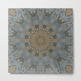 Mandalic Storm Carpet Mandala 1 Metal Print