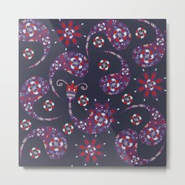 Paisley background Metal Print