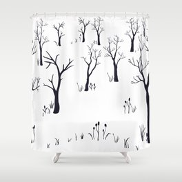 Bare Forest Shower Curtain