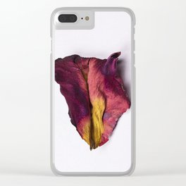Dried Rose Petal Clear iPhone Case