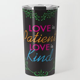 Love Is Heart Lettering Floral Design Travel Mug