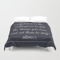 Jack Donaghy's throw pillow from 30 rock Duvet Cover