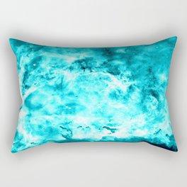 Turquoise Nebula Rectangular Pillow