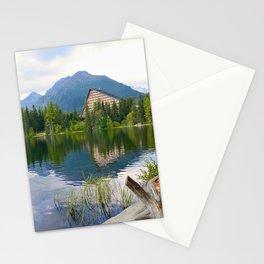 Strbske Pleso in High Tatras mountains Stationery Cards