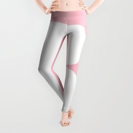 B MONOGRAM (WHITE & PINK) Leggings