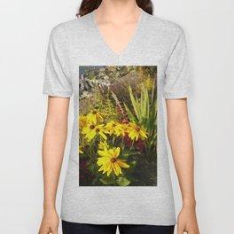 Floral Print 028 Unisex V-Neck