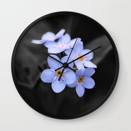 Forget Me - Not Wall Clock