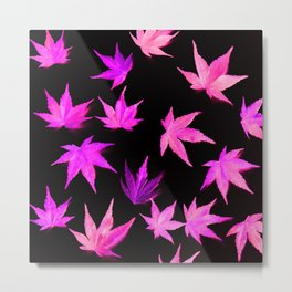 AUTUMN ROMANCE - LEAVES PATTERN #2 #decor #art #society6 Metal Print