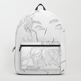 Lady Christmas Line Art Backpack