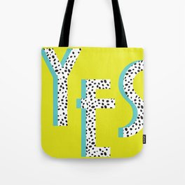 YES Poster | Lime Dalmatian Pattern Tote Bag