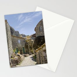 Monsanto, Portugal, a cobbled street Stationery Cards