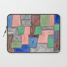 Complex Pattern with Golden Lines Laptop Sleeve