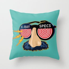 X-Ray Beaglepuss Specs Throw Pillow