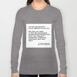 The romantic person - F Scott Fitzgerald Long Sleeve T-shirt