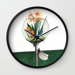 Unexpected Terrarium Dragonfly Wall Clock