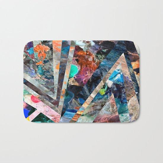 Triangle Forest Abstract Rainbow Bath Mat