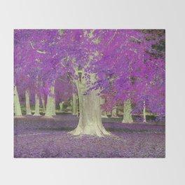 Purple Trees Throw Blanket